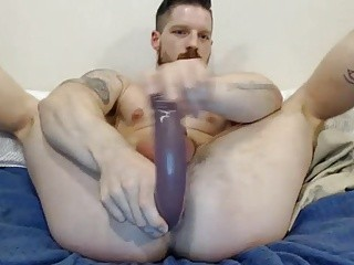 dildo In anal & sperm In Face
