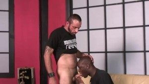 Bearded fellow Does raw Interracial homosexual Porn
