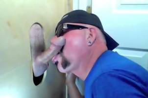 guy Getting A blowjob-service From An Expert Sucker In A Gloryhole