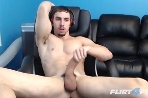 man With enormous penis Plays With It For The Camera