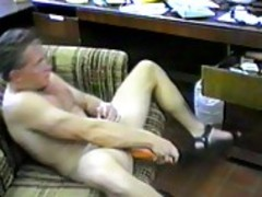 mature guy Plays With his monstrous jock