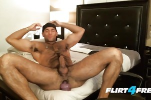 he widens His Legs To wank On His Hard pecker