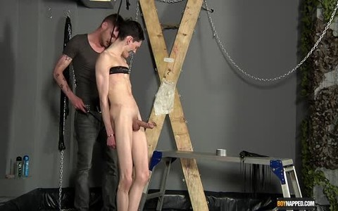 boy acquires tied And Hard plow After