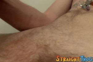 long Hair guy Billy Jerks His Hard weenie In Front Of Camera