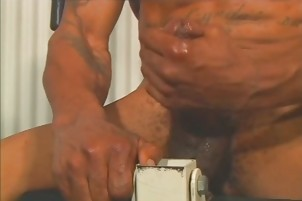 Alex pang Gives His large darksome penis A Hand Job
