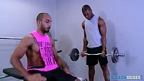 Interracial dril At The Gym