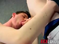 Euro homosexual twinks Licking And banging