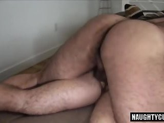 shaggy Bear unprotected With cumshot