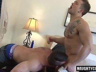 large 10-Pounder gay butt sex With sperm swallow