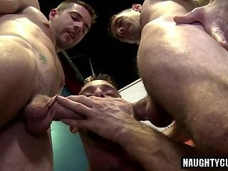 humongous pecker gay 3some And cumshot