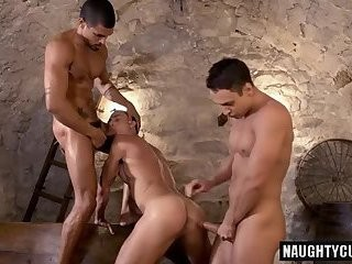 Latin lad 3some With Facial