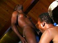Two dark studs suck On Each Otthis chabrs humongous rod