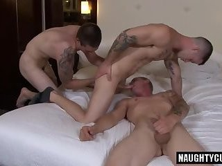 naughty homosexuals three-some With ball batter flow