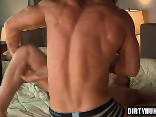 Muscle Son bareback With dong juice flow