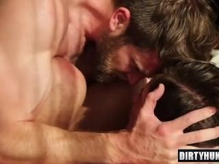 Muscle homosexual dudes ass sex With sex cream flow
