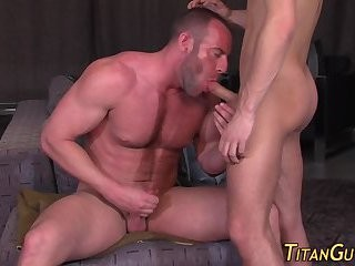 Rimmed Buff homo team-fucked