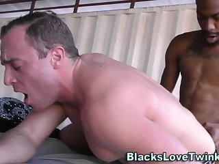 homosexual Interracial Spitroast