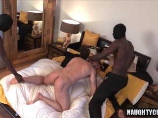gigantic weenie Son threesome With cumshot