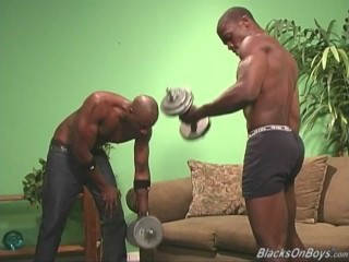 muscular dark men pooper pounding A White dude