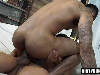 Muscle homo ass sex And Facial cum