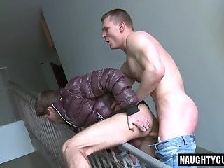 Euro Daddy Public Sex With Facial