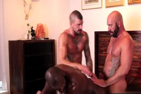 stunning gay 3some With Creampie