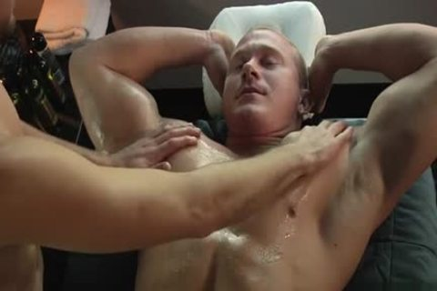 Muscle homosexual fellatio With Massage