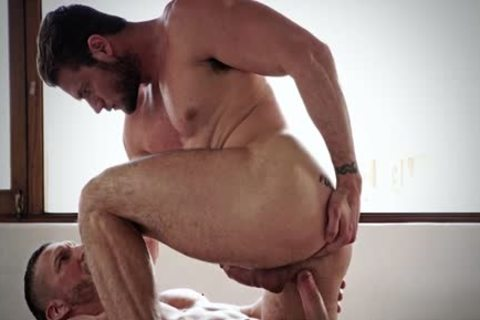 Muscle homo butt invasion With cumshot