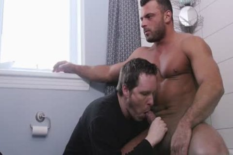 large dick gay oral sex-stimulation With Facial