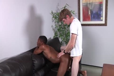 large cock Son Interracial With goo flow