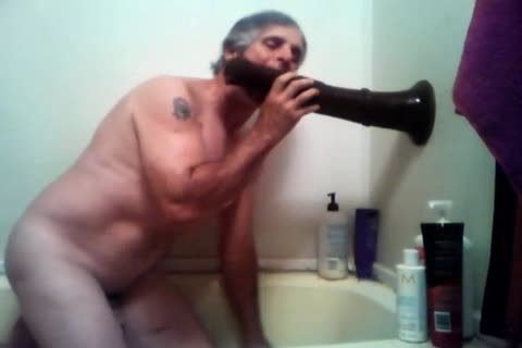 older lad Plays With His Fleshlight In Shower