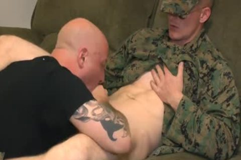 Marine Sgt James suck job stimulation