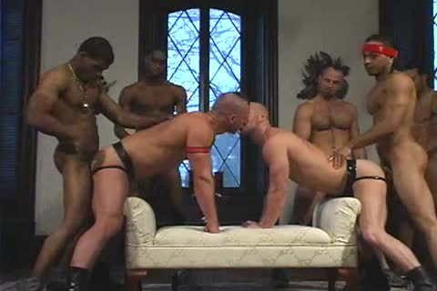 concupiscent lad acquires drilled In Interracial gangbang