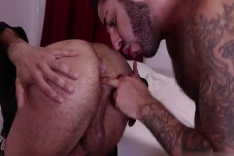 bushy gay anal sex With swallow