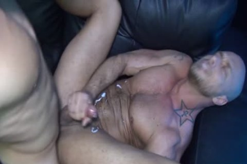 Muscle cock butthole With cream flow