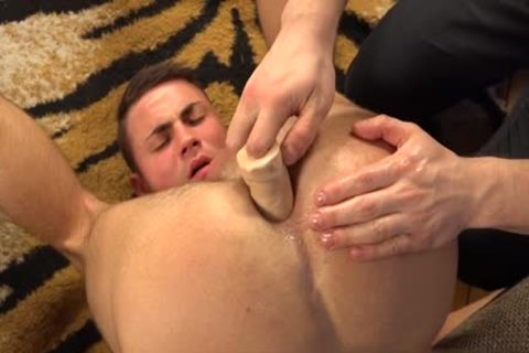 naughty homo Gaping With cream flow