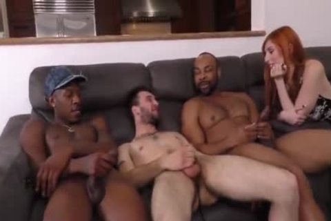 Girlfriend comes to a conclusion Her Boyfriend Needs Two large black cocks Up His a-hole