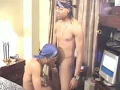 Thug sucks his buddy\\\'s dick to receive in