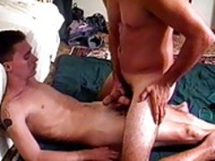 Two giant schlonged lads sucking And Masturbating Their ramrods
