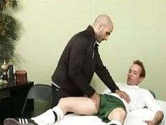 coach Gives twink A Rub Down
