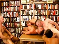 A Bunch Of nasty homosexuals drils In A Library