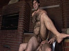 Igor pounds hellos homosexual lover outdoors