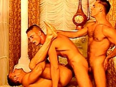 gay orgy Full Of concupiscent brawny cock suckers