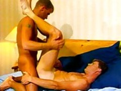 Two homosexual  friends receives Intimate In daybed Room