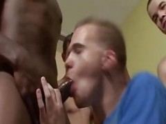 Blindfolded twink spitroasted by raw cock mormons