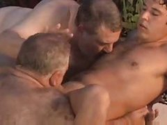 fat guy cumming By The Pool