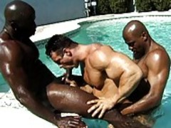 hawt black studs receive hawt And heavy In The Pool