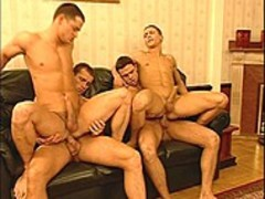 Masked guys Have Their Way with Two Hunky Italian guys