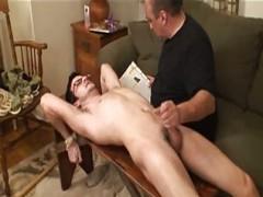 bdsm handjob For bare boy