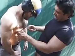 Stroking Cop cock 2